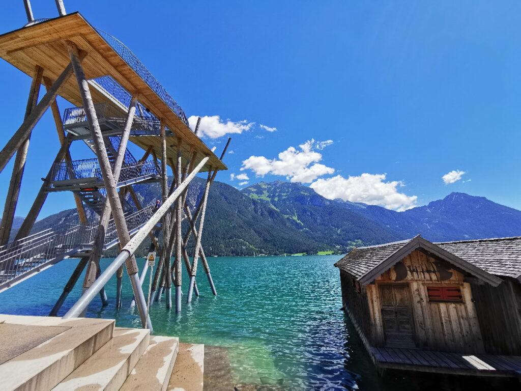 Achensee Wanderung zum Aussichtsturm in Pertisau