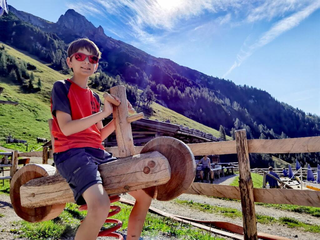 Am Achensee wandern mit Kindern - mit Wanderziel Almspielplatz