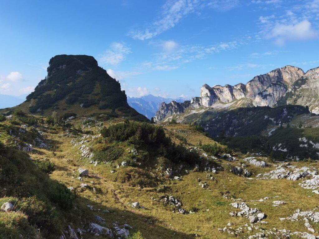 Die Achensee Berge im Rofan - links der Gschöllkopf