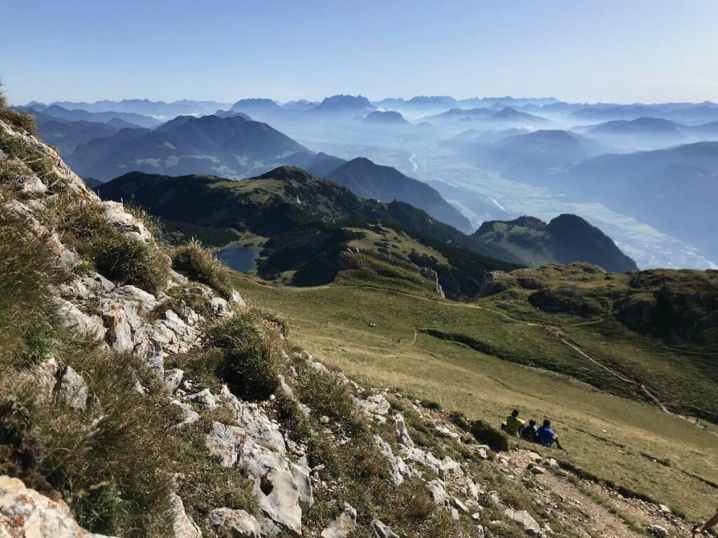 Von den Achensee Bergen über die Alpen schauen - das kannst du hier oben besonders gut