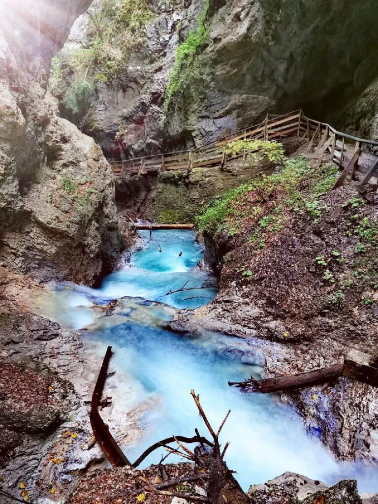 Wasserfälle Achensee bewundern - bei der Wanderung durch die Wolfsklamm